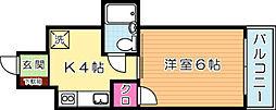 ルポ門司駅前ビル[5階]の間取り