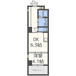 BLANC TOUR TAKAMIYA(ブラントゥーレ高宮)[4階]の間取り