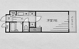 ライオンズマンション神奈川新町第2[202号室]の間取り