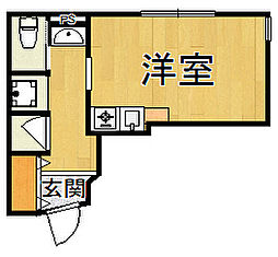 仮)岡本2丁目新築ハイツ 1階ワンルームの間取り