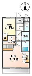 メゾン デ ファミーユK[1階]の間取り