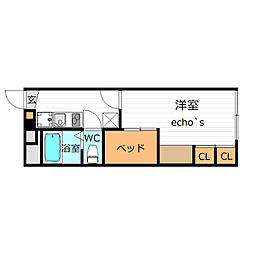 レオパレス上の段弐号館(31141)[2階]の間取り