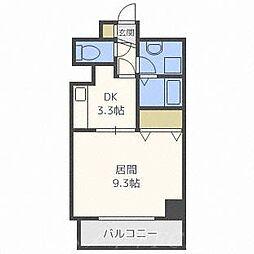 北海道札幌市中央区北三条西21丁目の賃貸マンションの間取り
