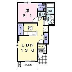 野川アパート[1階]の間取り