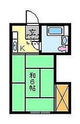 東京都荒川区南千住5丁目の賃貸マンションの間取り