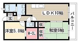 愛知県尾張旭市渋川町3丁目の賃貸マンションの間取り