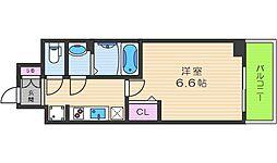 プレサンスTHE TENNOJI 逢坂トゥルー 2階1Kの間取り