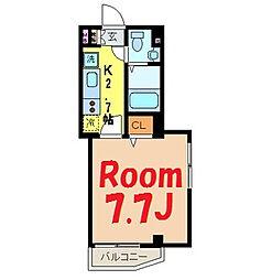 神奈川県横浜市鶴見区市場大和町の賃貸マンションの間取り