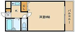 コートフォンティ[1階]の間取り