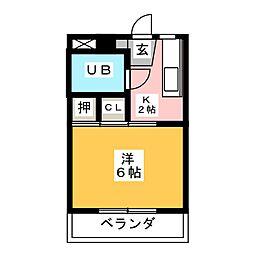 シティハウス18[2階]の間取り