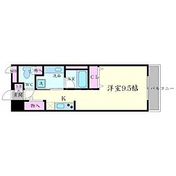 DAIWA RESIDENCE IBARAKI 3階1Kの間取り