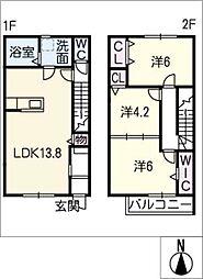 [タウンハウス] 愛知県常滑市蒲池町3丁目 の賃貸【愛知県 / 常滑市】の間取り