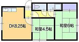 シベール313[2階]の間取り