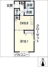 第3ツカタハイツ[1階]の間取り