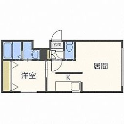 北海道札幌市東区北十五条東16丁目の賃貸マンションの間取り