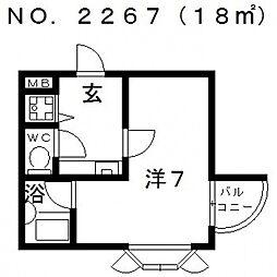 ピースフルハイツ[302号室号室]の間取り