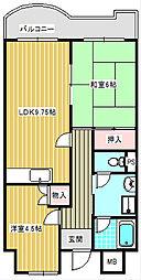 エスポワール住之江公園[507号室]の間取り