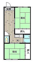 ハイツミヤコ[408号室]の間取り