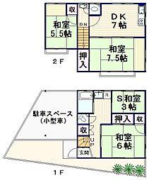[一戸建] 東京都中野区南台2丁目 の賃貸【/】の間取り