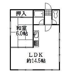 平和通7丁目アパート[2階]の間取り