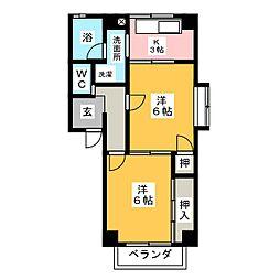 アメニティー春日井[2階]の間取り