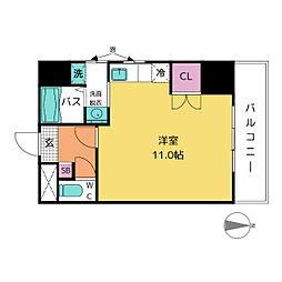 レジデンシア東別院[8階]の間取り