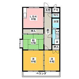 ファイン青山[1階]の間取り