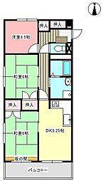 レジデンス新居[305号室]の間取り