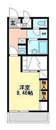 兵庫県明石市大久保町森田の賃貸アパートの間取り