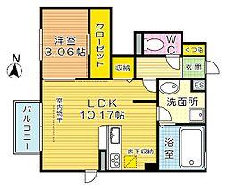 D-room片野新町[101号室]の間取り