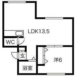 発寒駅 1.1万円