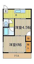メゾン・ド・K[1階]の間取り