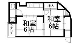 原田マンション[0402号室]の間取り