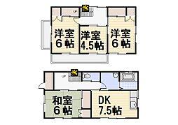 [一戸建] 埼玉県所沢市林3丁目 の賃貸【/】の間取り