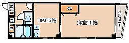 兵庫県神戸市中央区熊内町4丁目の賃貸マンションの間取り
