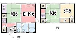 [一戸建] 兵庫県姫路市飾磨区中浜町2丁目 の賃貸【/】の間取り