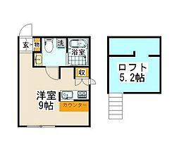 神奈川県横浜市金沢区寺前2丁目の賃貸アパートの間取り