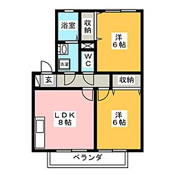 ラーク[1階]の間取り