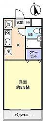 クレストガーデン津田沼[3階]の間取り
