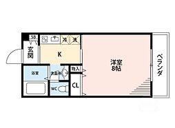 ドミトリオ仁王田[4階]の間取り
