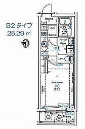 ANNEX椎名町 ~アネックスシイナマチ~ 3階1Kの間取り