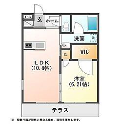 LINO I[2階]の間取り