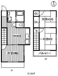 [タウンハウス] 東京都練馬区早宮4丁目 の賃貸【東京都 / 練馬区】の間取り