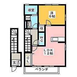 ミヤビ[2階]の間取り