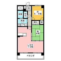 佳千ビルIII(カセンビルIII)[5階]の間取り
