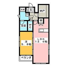 ディオール ナゴヤ[5階]の間取り