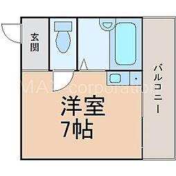 田川ロータリーハイツ[5階]の間取り