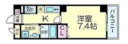 MATSUBOKKURIレジデンス 1階1Kの間取り