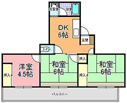 石川ビル[502号室]の間取り
