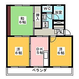 サクセスコート[3階]の間取り